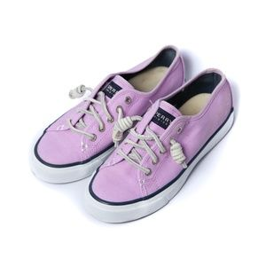 Sperry Top-Sider Women's Size 5 Pink canvas shoes